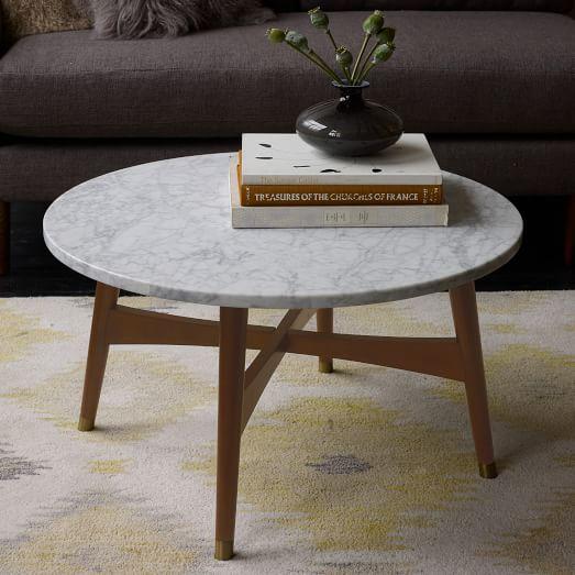 Reeve Mid-Century Coffee Table - Marble | west elm