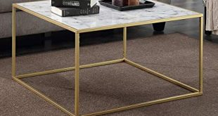 Amazon.com: Convenience Concepts Gold Coast Faux Marble Coffee Table