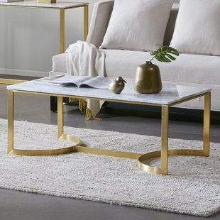 Rose Gold Marble Coffee Table | Wayfair