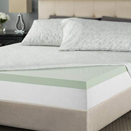 Amazon.com: Zinus 2 Inch Green Tea Memory Foam Mattress Topper, Twin