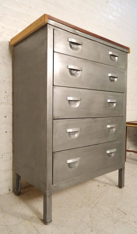 Mid-Century Metal Dresser Refinished For Sale at 1stdibs