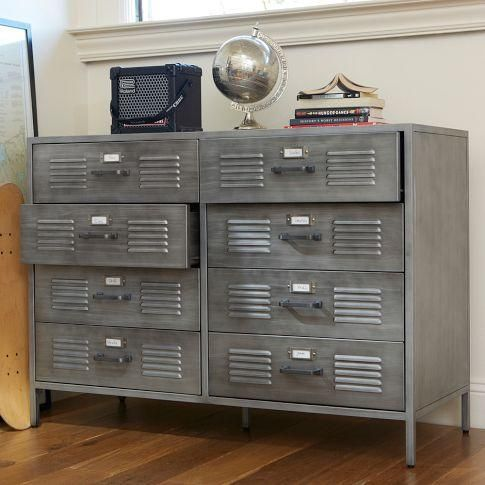 Storage Furniture - Locker Dresser | PBteen - metal locker dresser