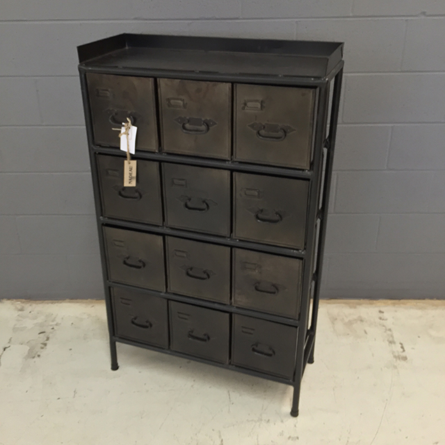 Industrial Dresser with Metal Drawers - Nadeau Minneapolis