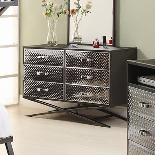 Metal Modern & Contemporary Dressers You'll Love | Wayfair