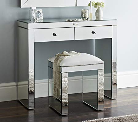Niches Luxury Venetian Mirror Dressing Table & Stool With Two Makeup