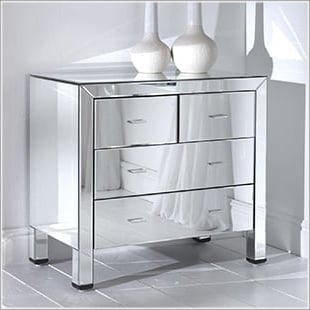 Mirrored Furniture & Mirrored Bedroom Furniture by Homes Direct 365