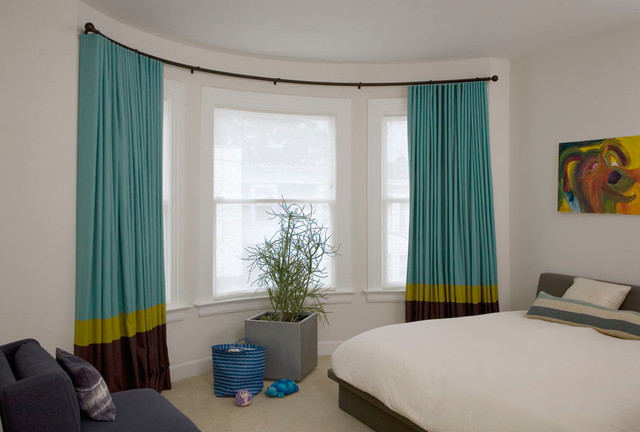 Fantastic Modern Bay Window Curtains Inspiration with Windows Drapes