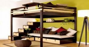 Great Bunk Beds with Couch Underneath | Big Boys Room | Pinterest