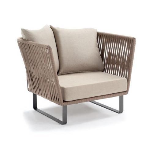 Bitta Braided Modern Outdoor Club Chair GK-70200-729 | CozyDays