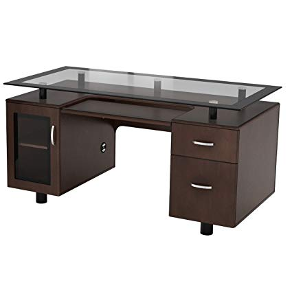 Amazon.com: Zen Modern Executive Desk Home Office Desk: Home & Kitchen