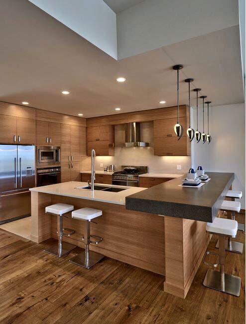 30 Elegant Contemporary Kitchen Ideas   Archi   Pinterest   Kitchen