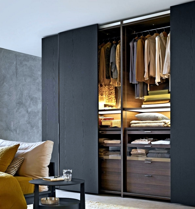 Wardrobe with sliding doors- a wonderful storage space. | Interior