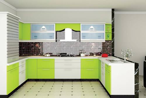 Laminate Modular Kitchen, Contemporary Kitchen Designer, Cromatica