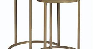 Amazon.com: Dorel Living Moriah Nesting Tables, Soft Brass, Faux