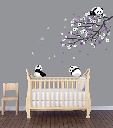 Amazon.com : Panda Nursery Decals, Panda Wall Decal, Branch Decal : Baby