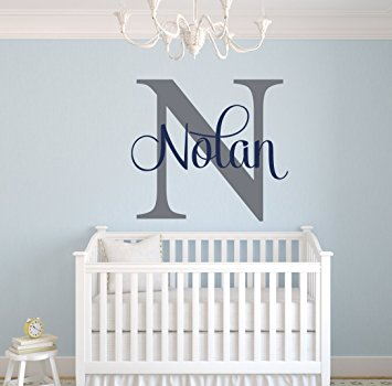 Amazon.com: Custom Name Monogram Wall Decal - Nursery Wall Decals