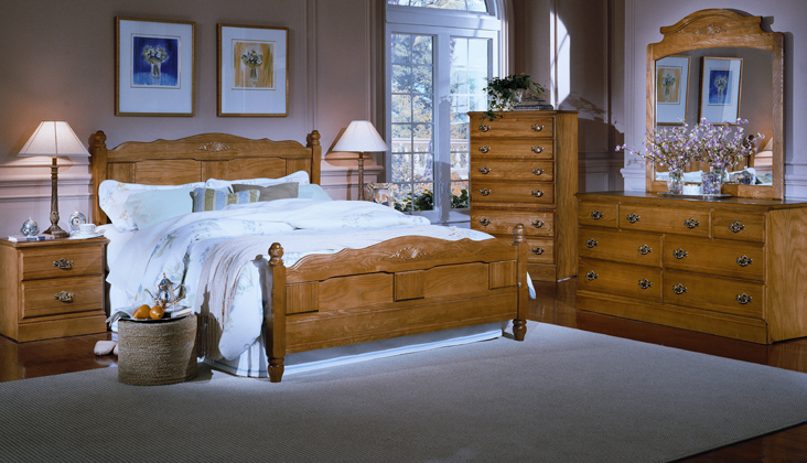 Carolina Furniture Oak 2300 Bedroom Collection