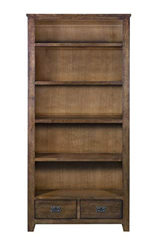 Amazon.com: Mission Quarter Sawn Oak Bookcase with 2-Drawers & Open