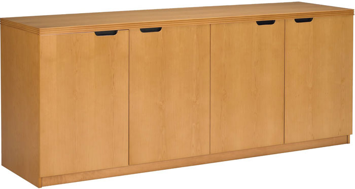 Office Credenza, 4 Door Office Cabinet - OfficePope.com
