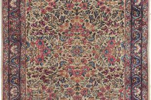 Ivory 102cm x 152cm Kerman Oriental Rug | Oriental Rugs | AU Rugs