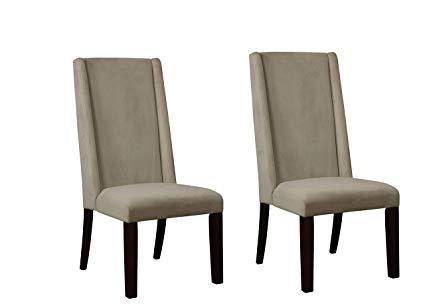 Amazon.com - Demi-wing Parson Chairs Granite Matte and Warm Grey