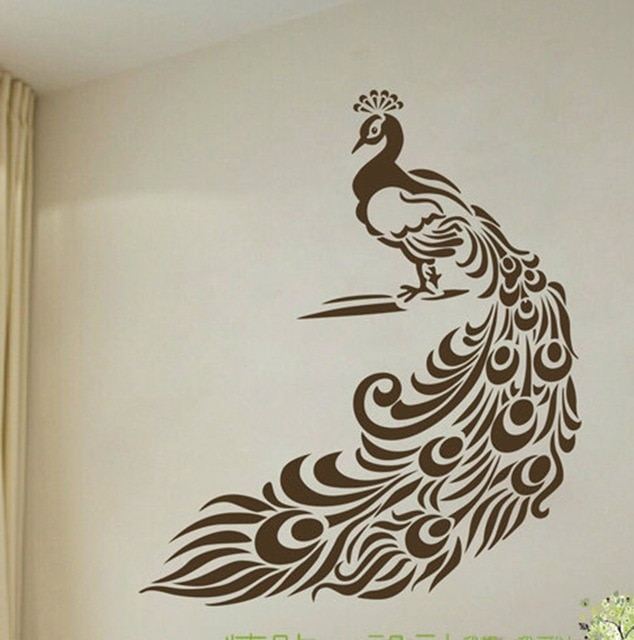 Peacock Wall Stickers Art Decor Wonderful Peacock Vinyl Wall Decals