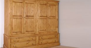 Solid Pine 4 Door Wardrobe With Drawers In 4 Sizes | Furniture4YourHome