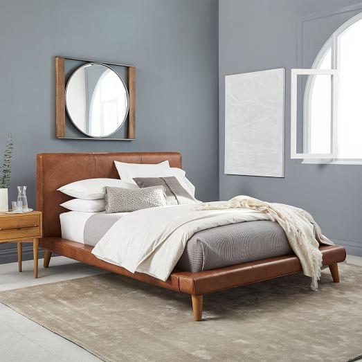 Mod Leather Platform Bed | west elm