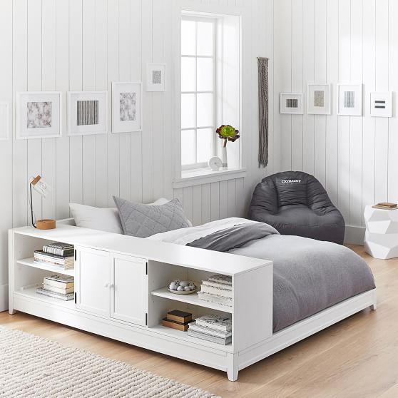 Ultimate Platform Bed + Cubby/ Cabinet Set | PBteen
