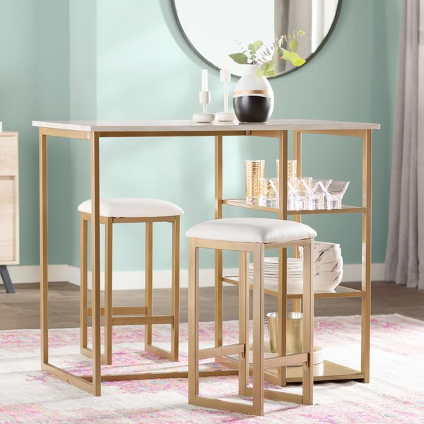 Mercury Row Denham 3 Piece Pub Table Set & Reviews | Wayfair