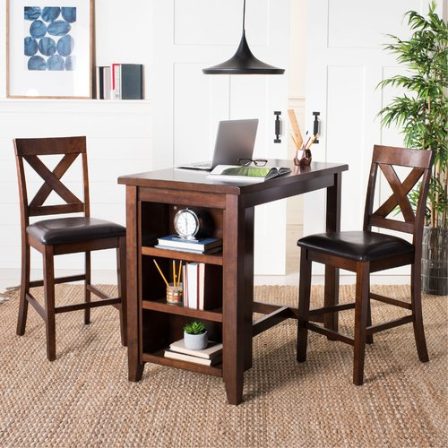 Darby Home Co Renwick 3 Piece Pub Table Set - Walmart.com