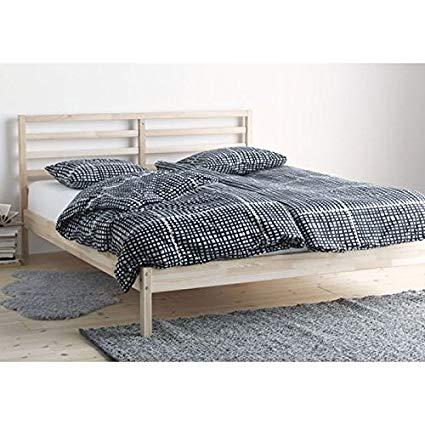 Amazon.com: Ikea Tarva Queen Size Bed Frame Solid Pine Wood Brown