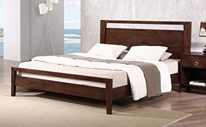 Amazon.com: Kota Modern Queen Size Solid Wood Platform Bed Frame