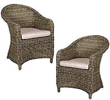 BRAND NEW CHRISTOW BROWN RATTAN CHAIRS OUTDOOR GARDEN PARTY BALCONY