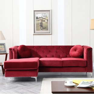Red Sectional Sofa for Newly Wed Couples   Home