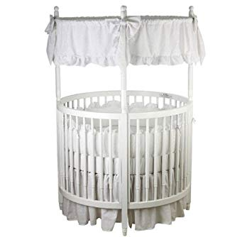 Amazon.com : Dream On Me Sophia Posh Circular Crib In White : Round