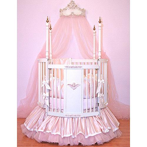 Cherub Dreams Round Crib Ii and Nursery Necessities in Interior