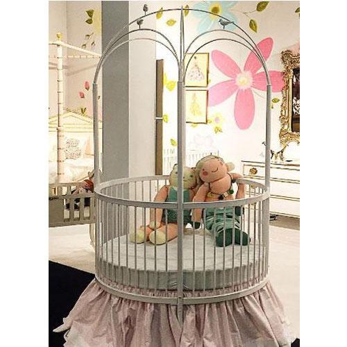 Round Crib - White