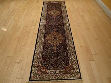 Amazon.com: Silk Rug Luxury Navy Rug Persian Rug Runner Rug for