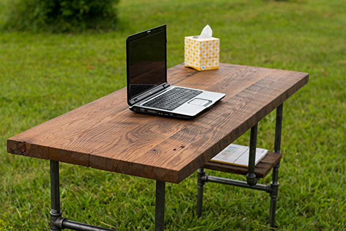 Amazon.com: Reclaimed Wood Desk Table - Rustic Solid Oak W/28