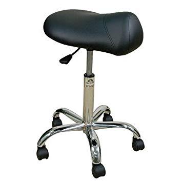 Amazon.com: Height Adjustable Professional Saddle Stool Color: Coal
