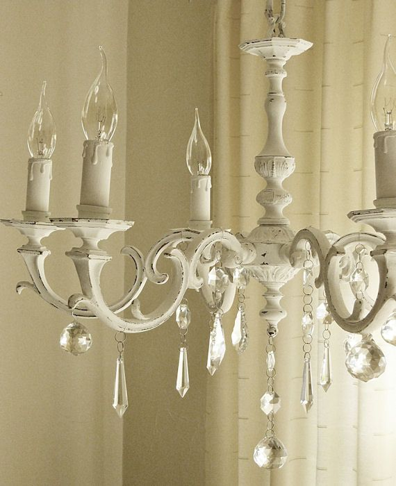 painted chandeliers before and after | Shabby Chic Inspired: before