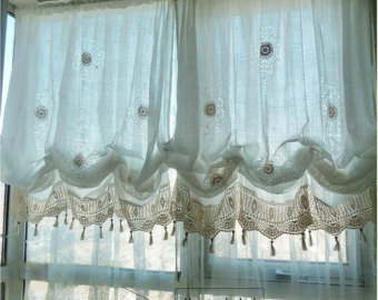 Shabby chic curtains | Etsy