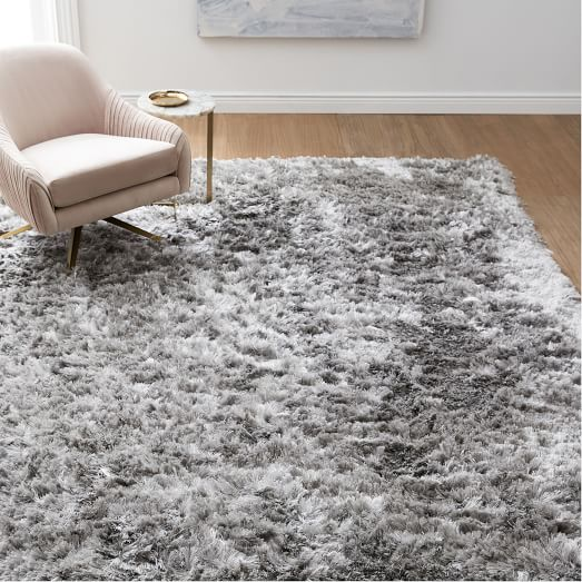 Glam Shag Rug - Platinum | west elm