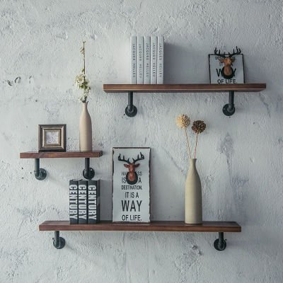 Amazon.com: Industrial Pipe Shelving Bookshelf Rustic Modern Wood