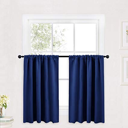 Amazon.com: RYB HOME Kitchen Curtains 36 inch Long for Small Window