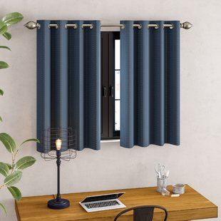 Blue Short Curtains | Wayfair
