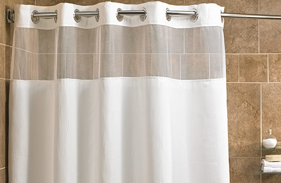 Mini Waffle Shower Curtain - Fairfield Hotel Store