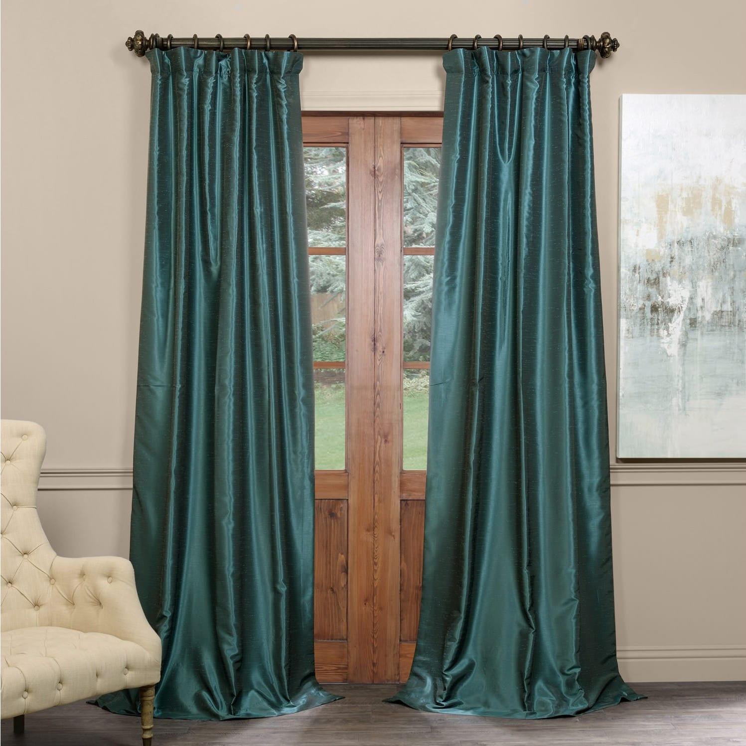 Exclusive Fabrics True Blackout Vintage Textured Faux Dupioni Silk