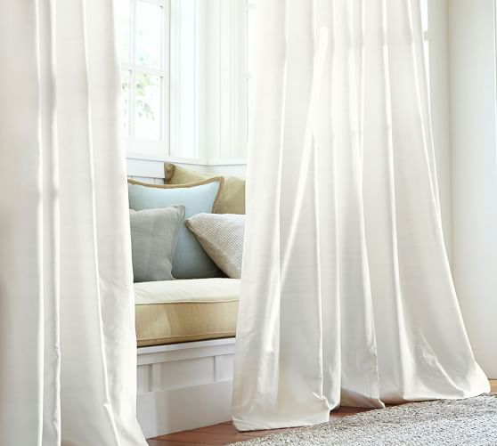 Silk Curtains for Classy and Formal   Setting of Living Room